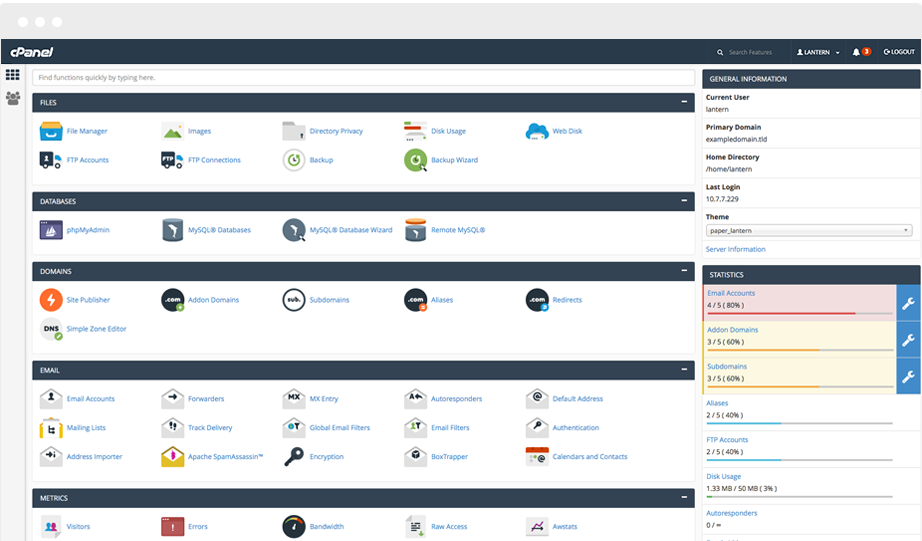 Easy Website Management with cPanel